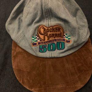 Cracker Barrel 500 NASCAR 90s denim hat
